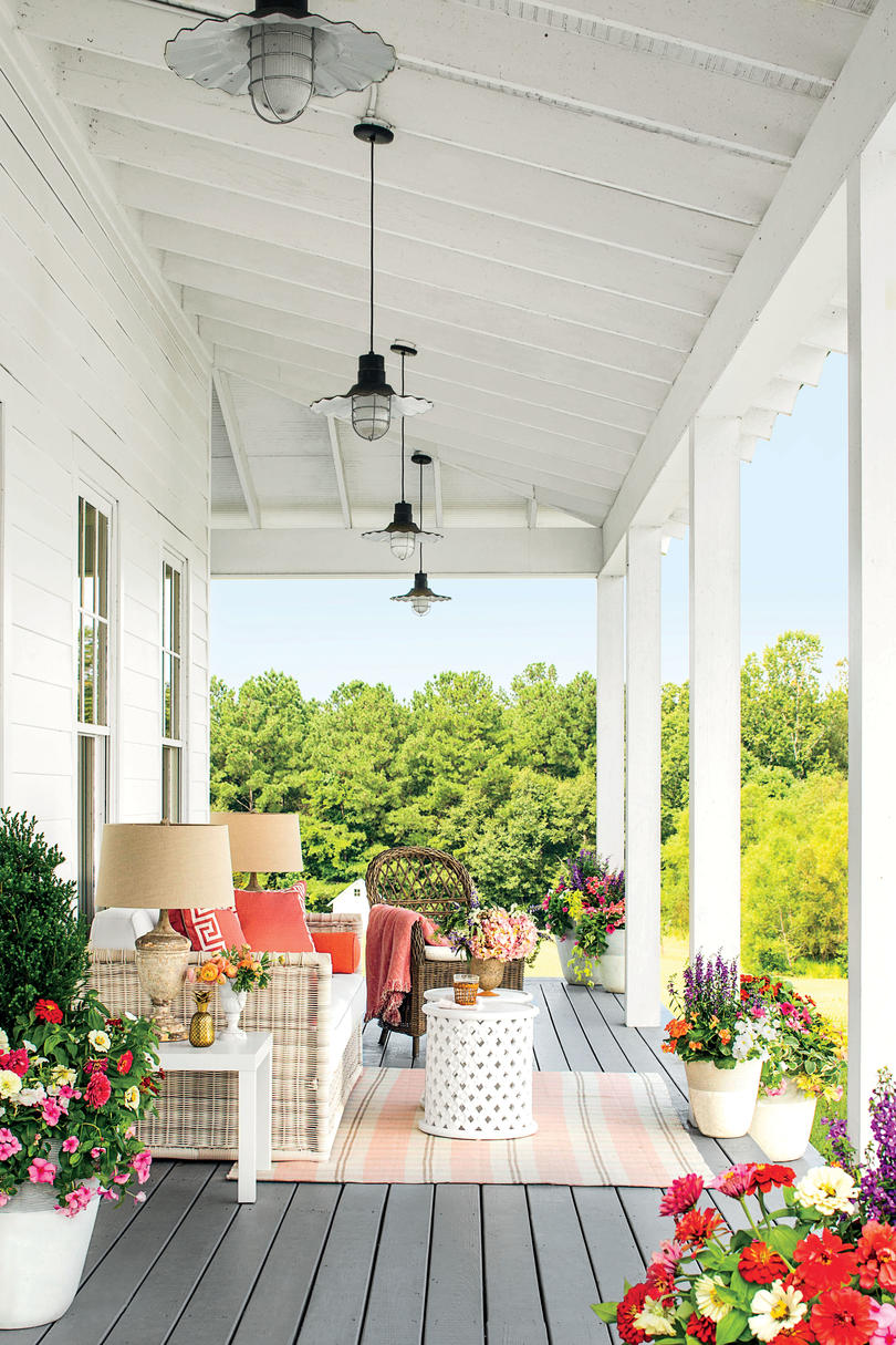 Colorful Farmhouse Porch