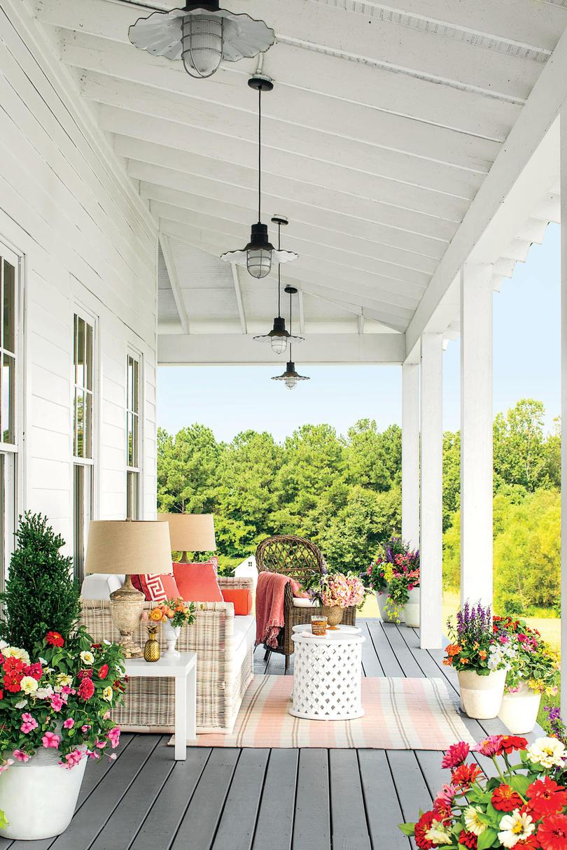 Porch and patio design inspiration southern living Outside veranda designs