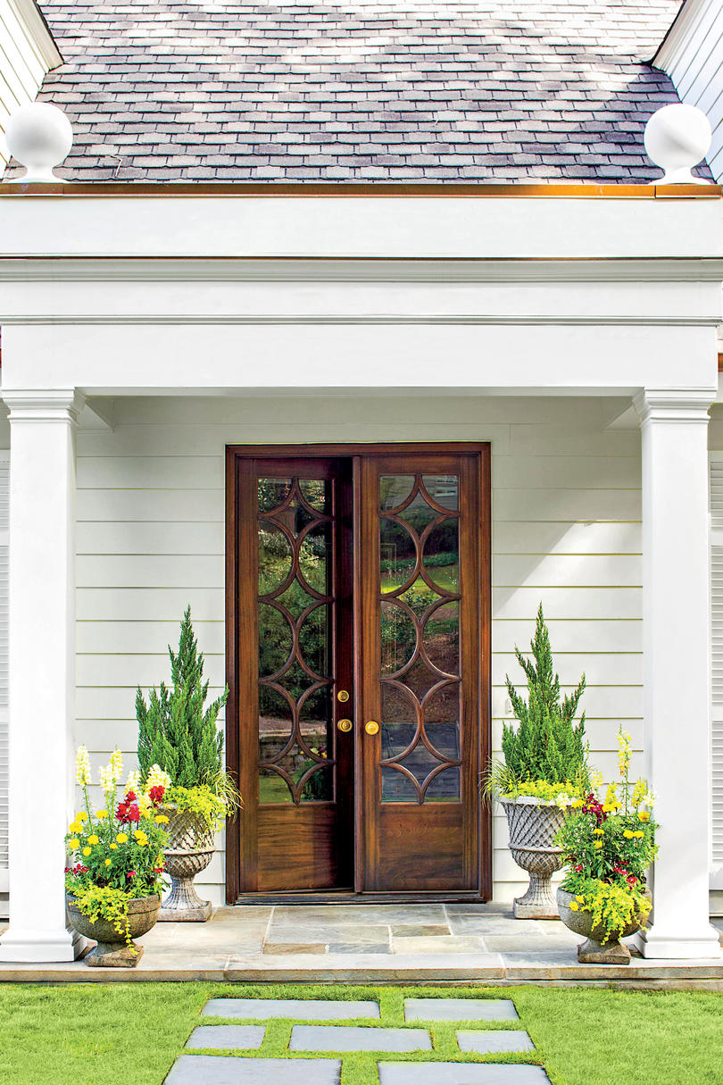 Stylish looks for front entry doors southern living classic french door entry rubansaba