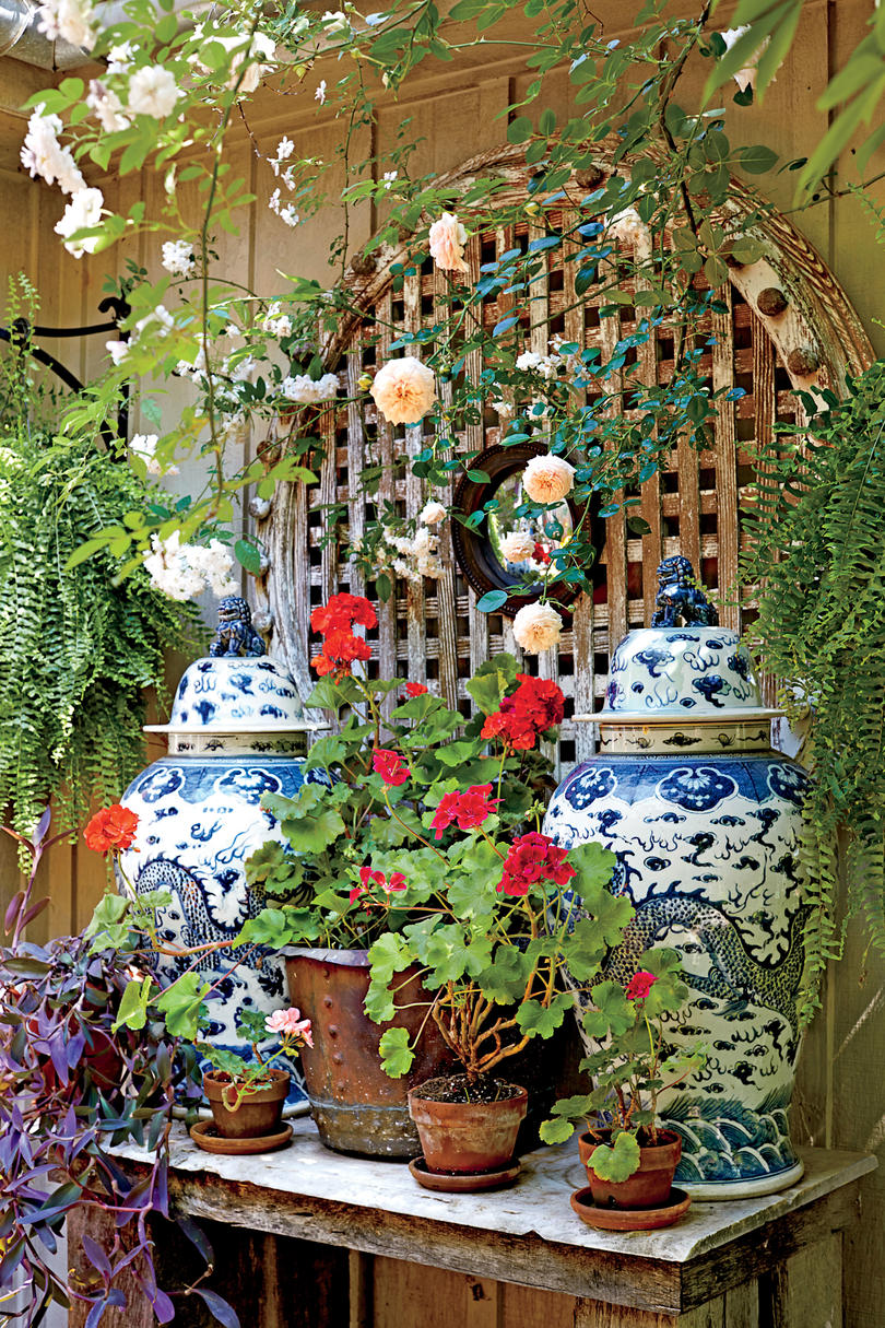 Garden Flower Pot Display
