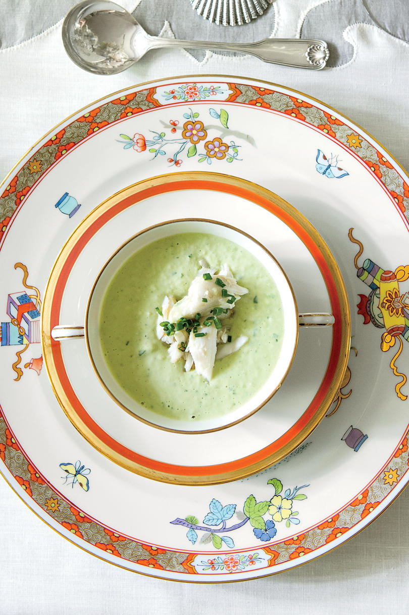 Green Goddess Soup with Jumbo Lump Crabmeat