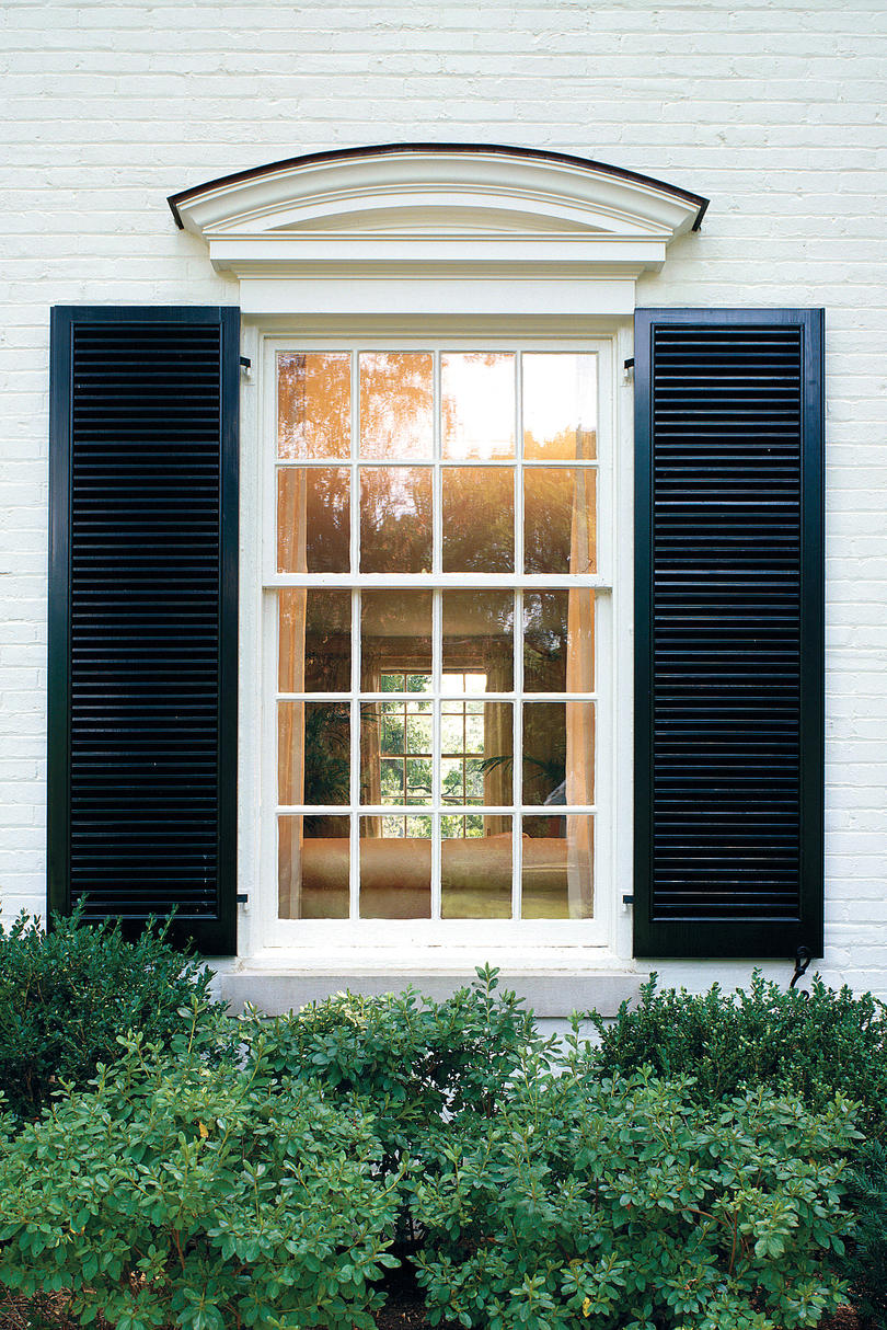 Exterior window awning louvered for Exterior louvered window shutters