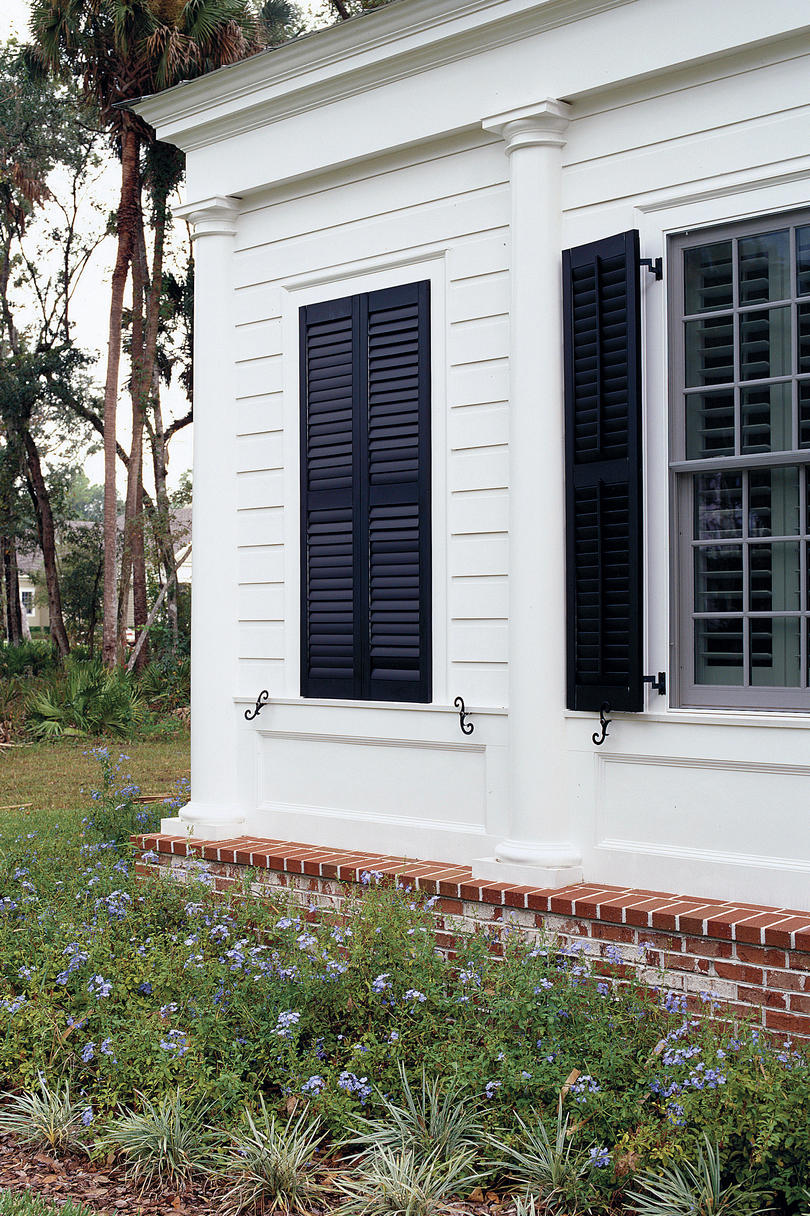 Wood Shutters Closed : Stylish window shutters southern living