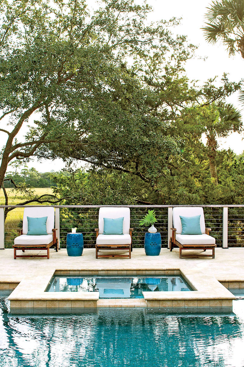lowcountry pool with marsh views - Outdoor House Pools