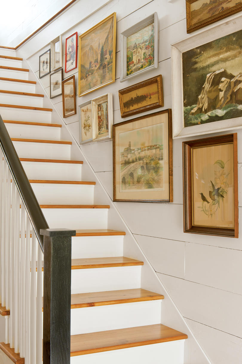 Shiplap Gallery Stair Wall