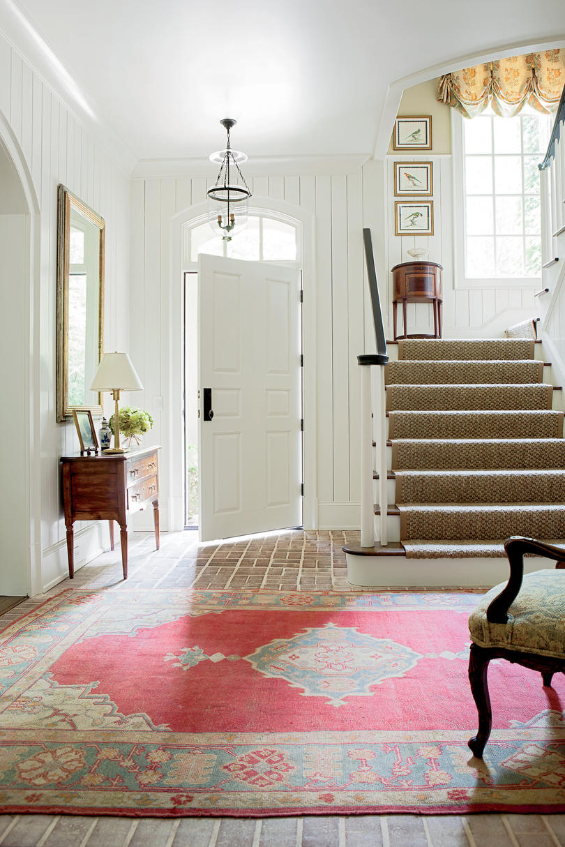 Foyer with Vertical Shiplap