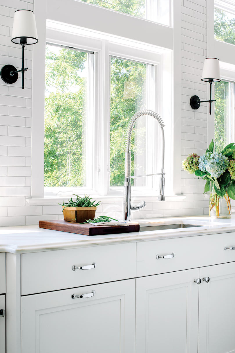Single Bowl White Kitchen Sink