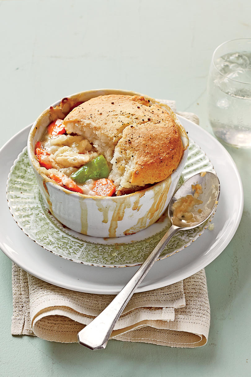 Easy Biscuit-Topped Chicken Pot Pie