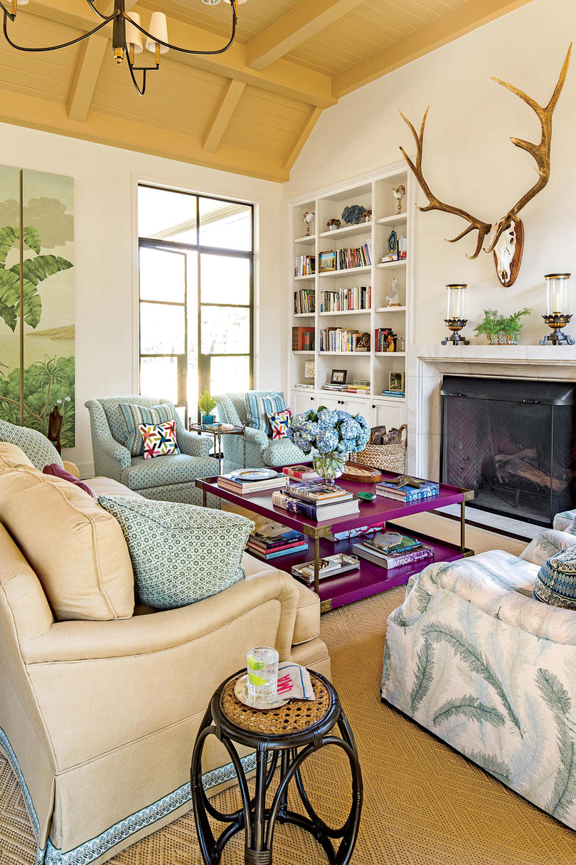 Living room furniture color ideas Couch Coastal Lowcountry Living Room Comforting Colors Southern Living 106 Living Room Decorating Ideas Southern Living