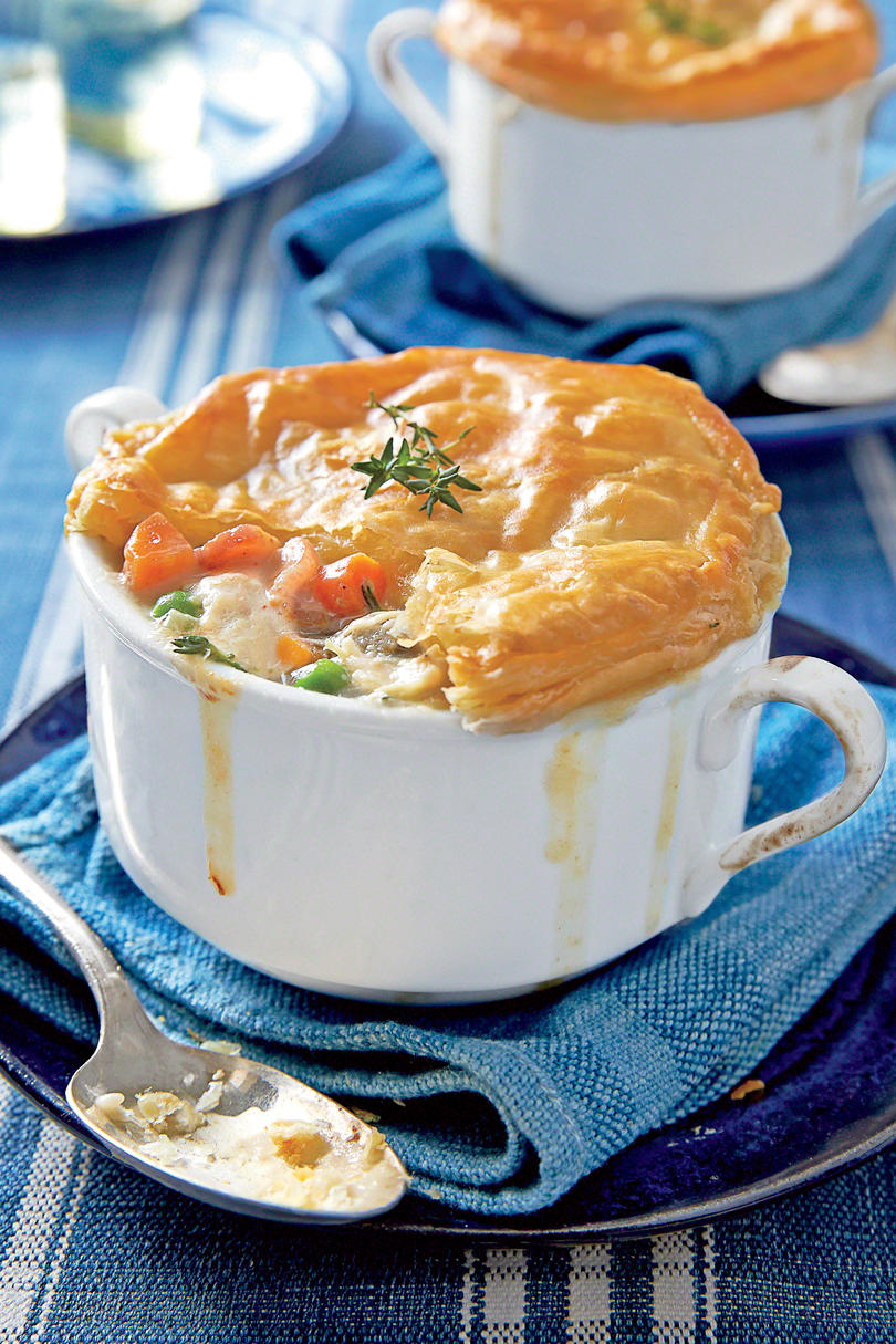 Double crust chicken pot pies recipe southern living loaded chicken bacon pot pie forumfinder Images