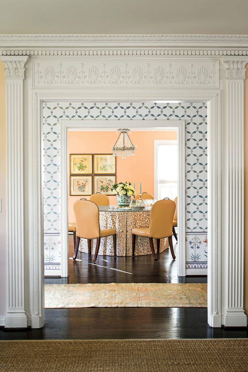 Coral Dining Room. Stylish Dining Room Decorating Ideas   Southern Living