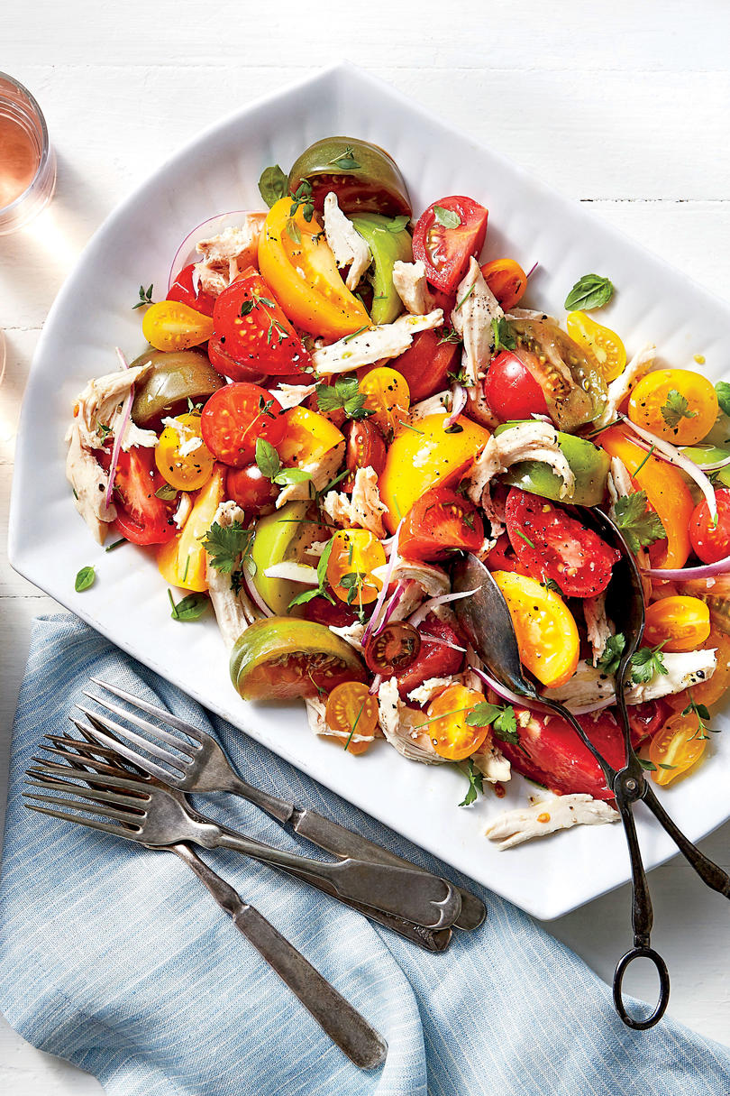 Heirloom Tomato and Chicken Toss