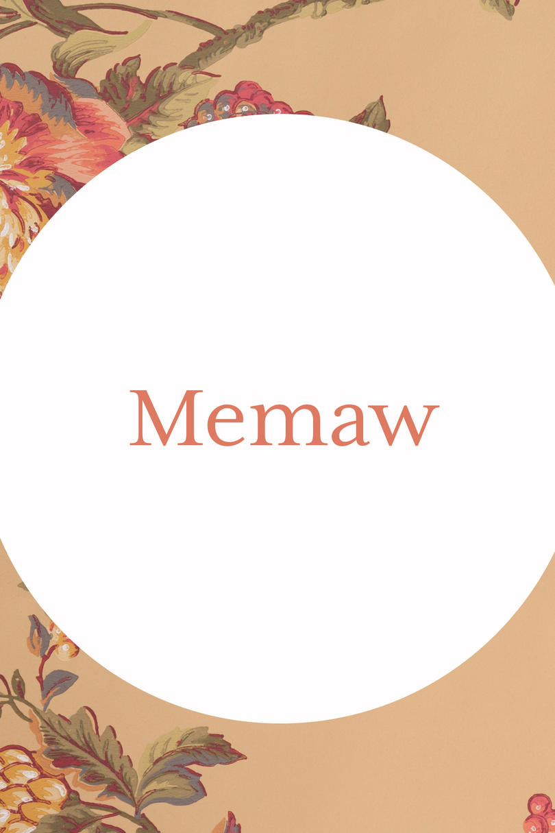 Memaw Grandmother Name Image