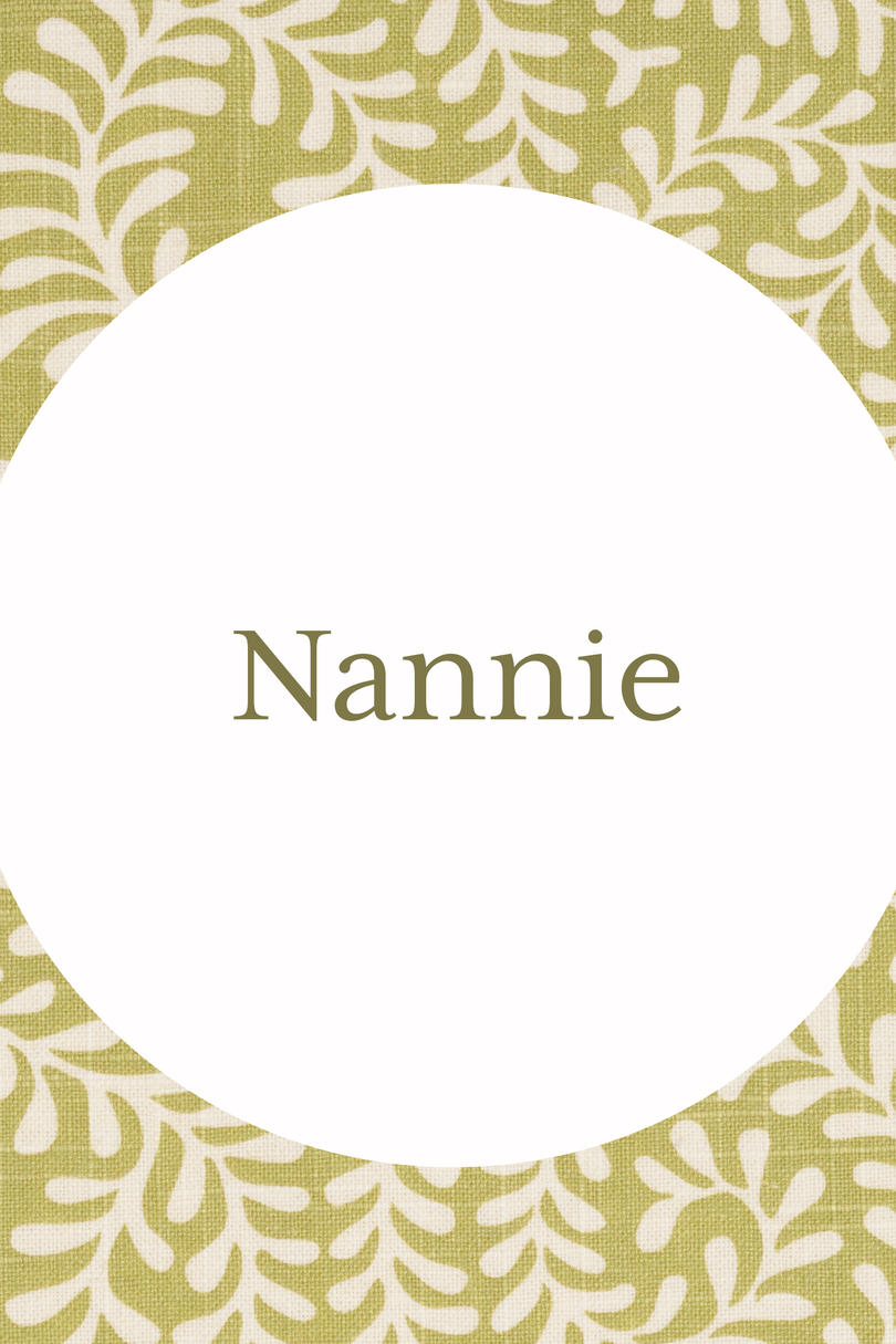 Nannie Grandmother Name