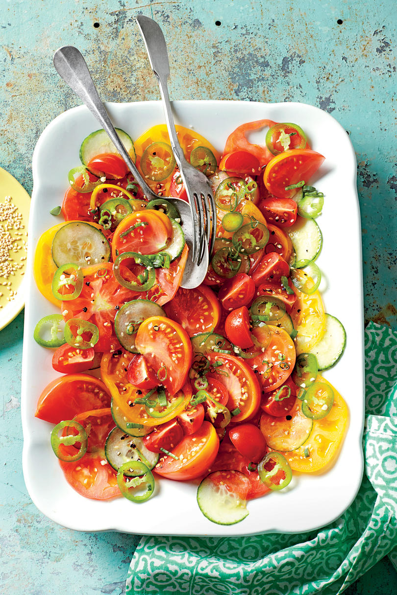 Sesame, Tomato, and Cucumber Salad