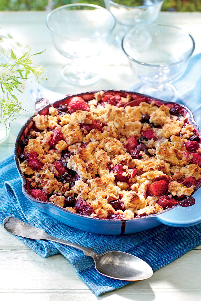 Berry Cobbler with Pecan Sandie Streusel