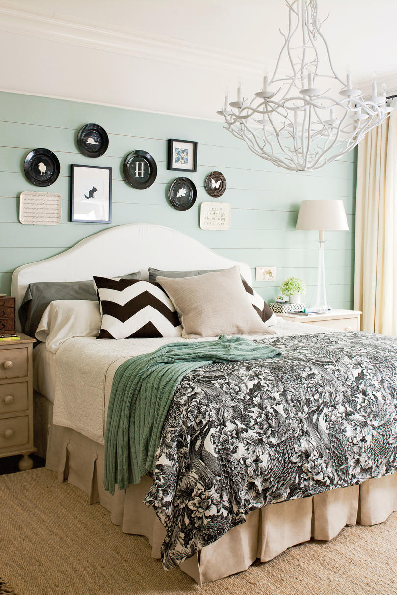 Blue And Black Master Bedroom