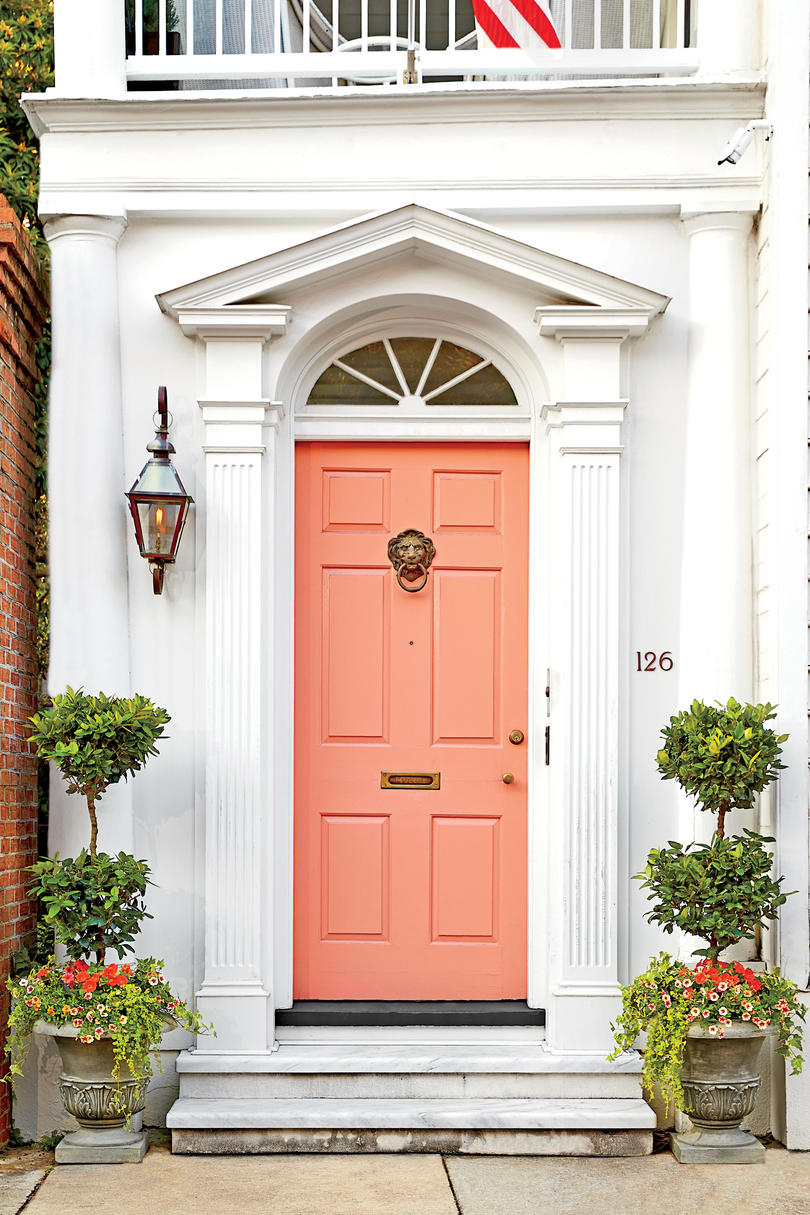 Charleston Coral Front Door & 13 Bold Colors for Your Front Door - Southern Living
