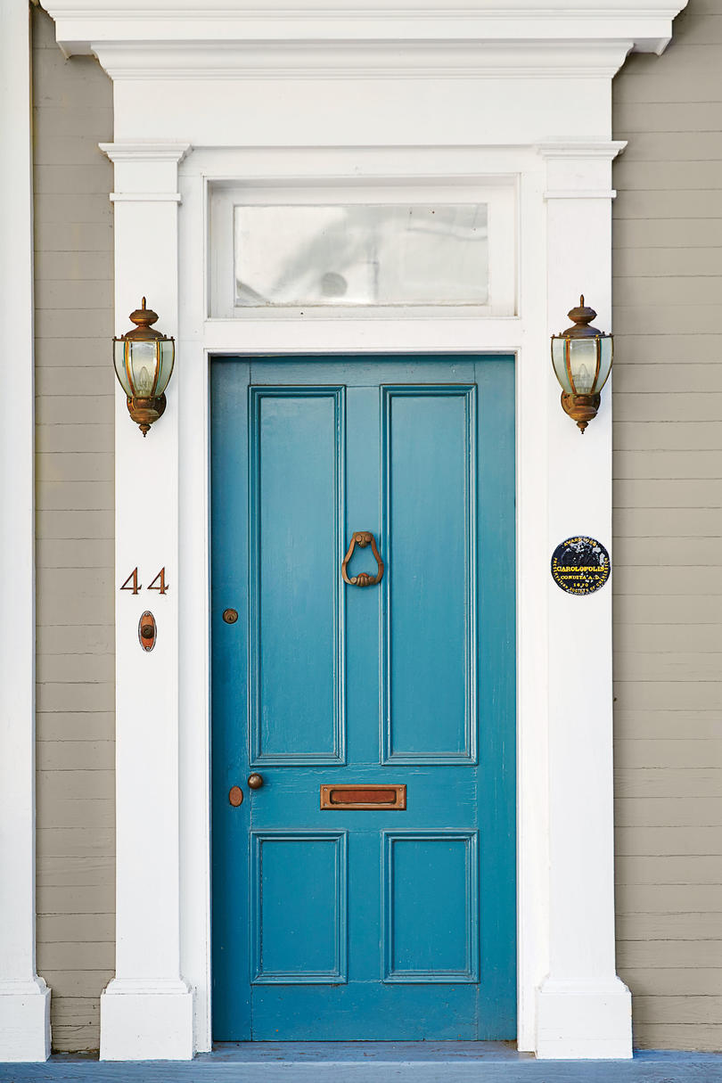13 bold colors for your front door southern living charleston denim blue front door rubansaba