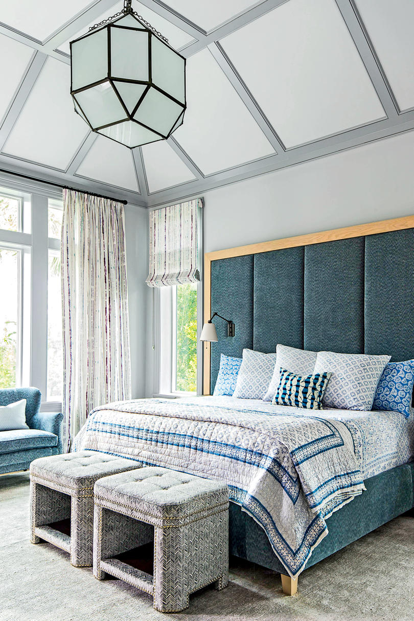 Misty Beach Blues Gray Blue Master Bedroom