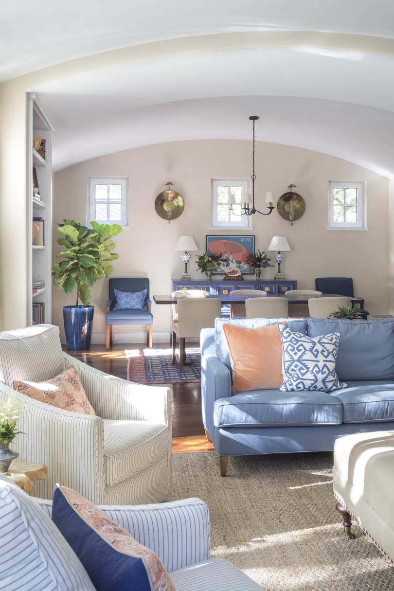 Open Living Dining Room in Kiawah Island Home