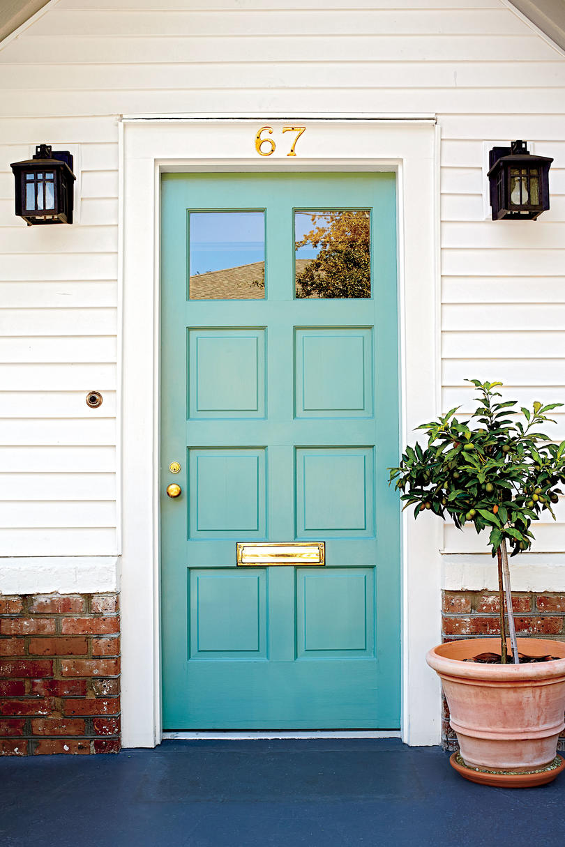 Charleston Light Teal Front Door & 13 Bold Colors for Your Front Door - Southern Living Pezcame.Com