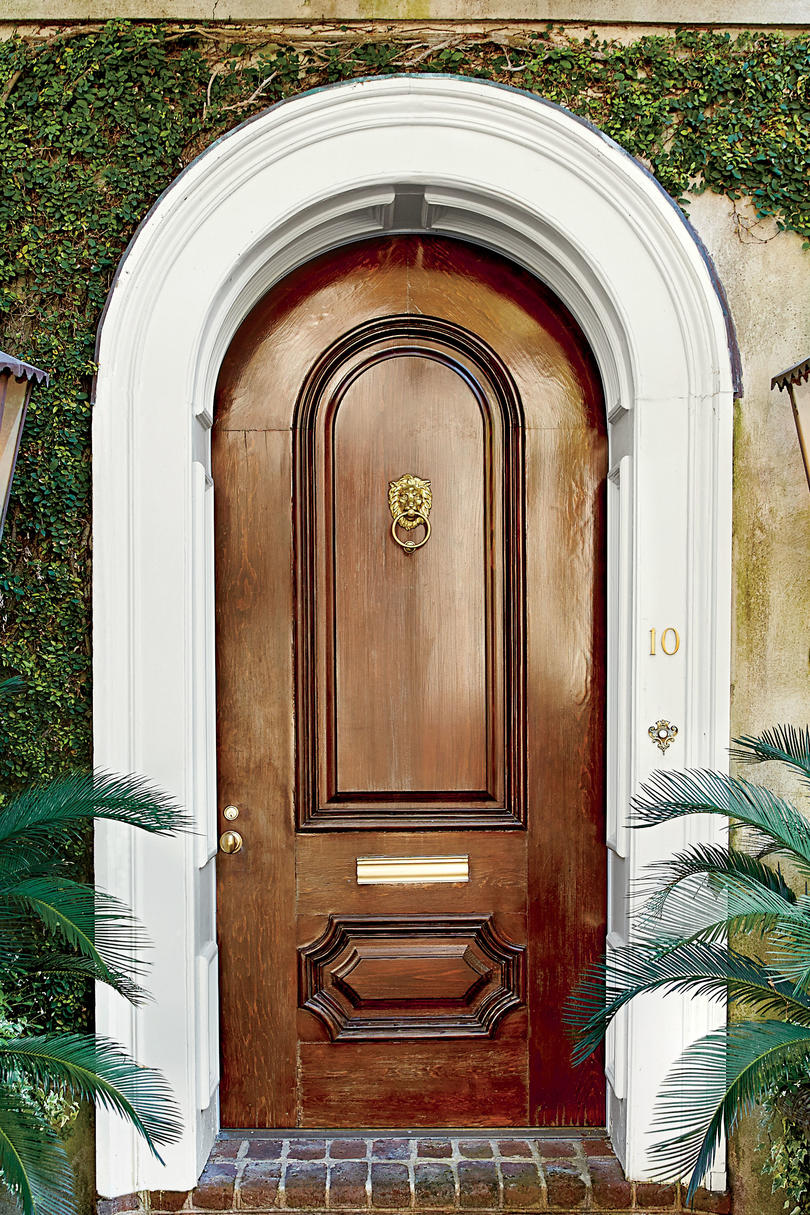 13 bold colors for your front door southern living charleston mahogany front door rubansaba