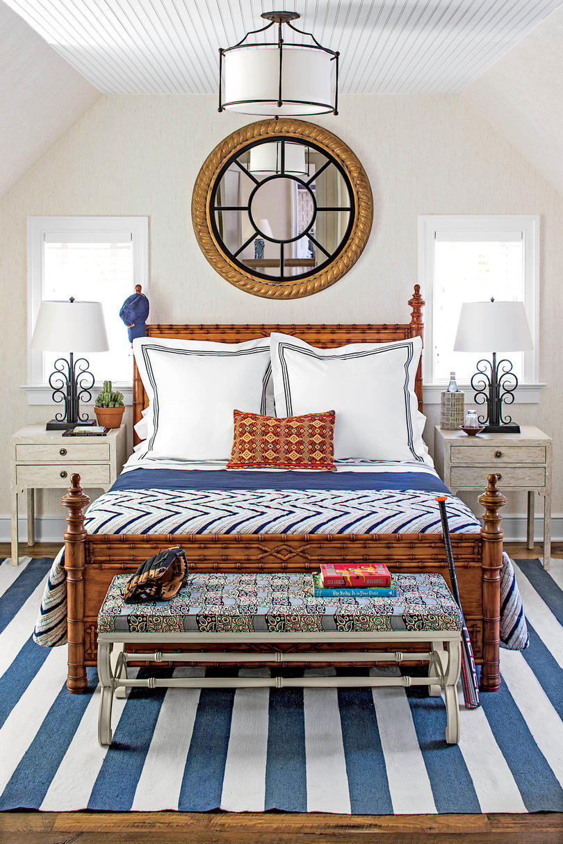 beautiful blue bedrooms southern living. Black Bedroom Furniture Sets. Home Design Ideas