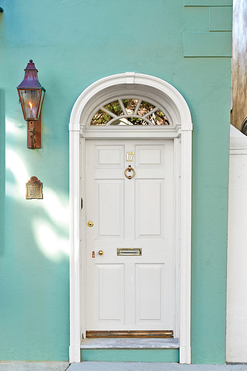 Charleston Plaster White Front Door