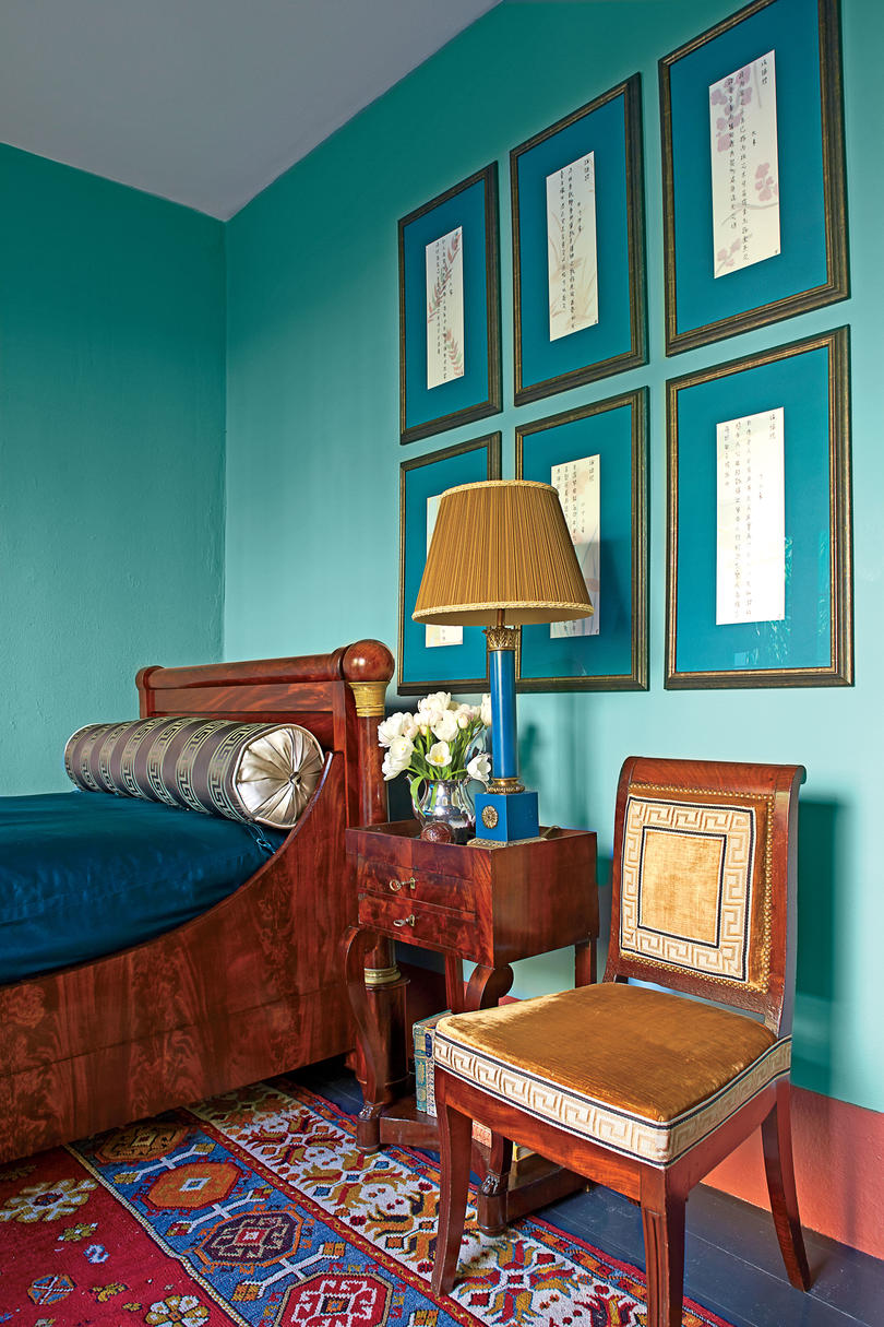 Turquoise Blue Small Bedroom