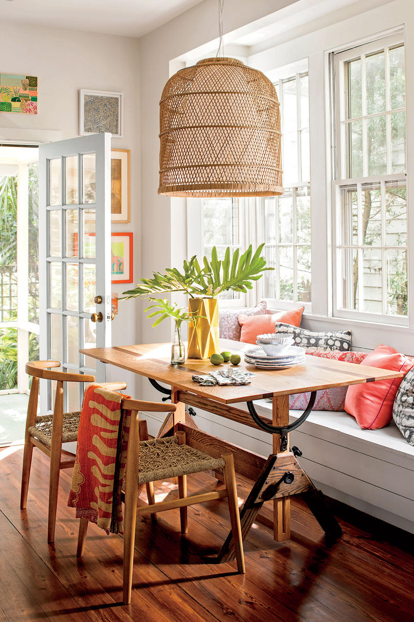 bright breakfast nook - Small House Space Ideas
