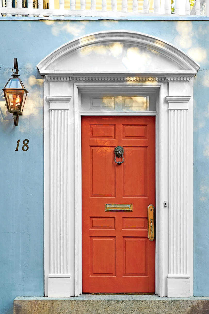 Charleston Vermillion Front Door & 13 Bold Colors for Your Front Door - Southern Living
