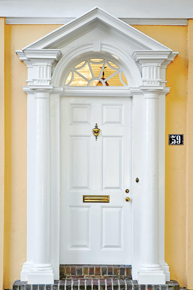 white front door13 Bold Colors for Your Front Door  Southern Living