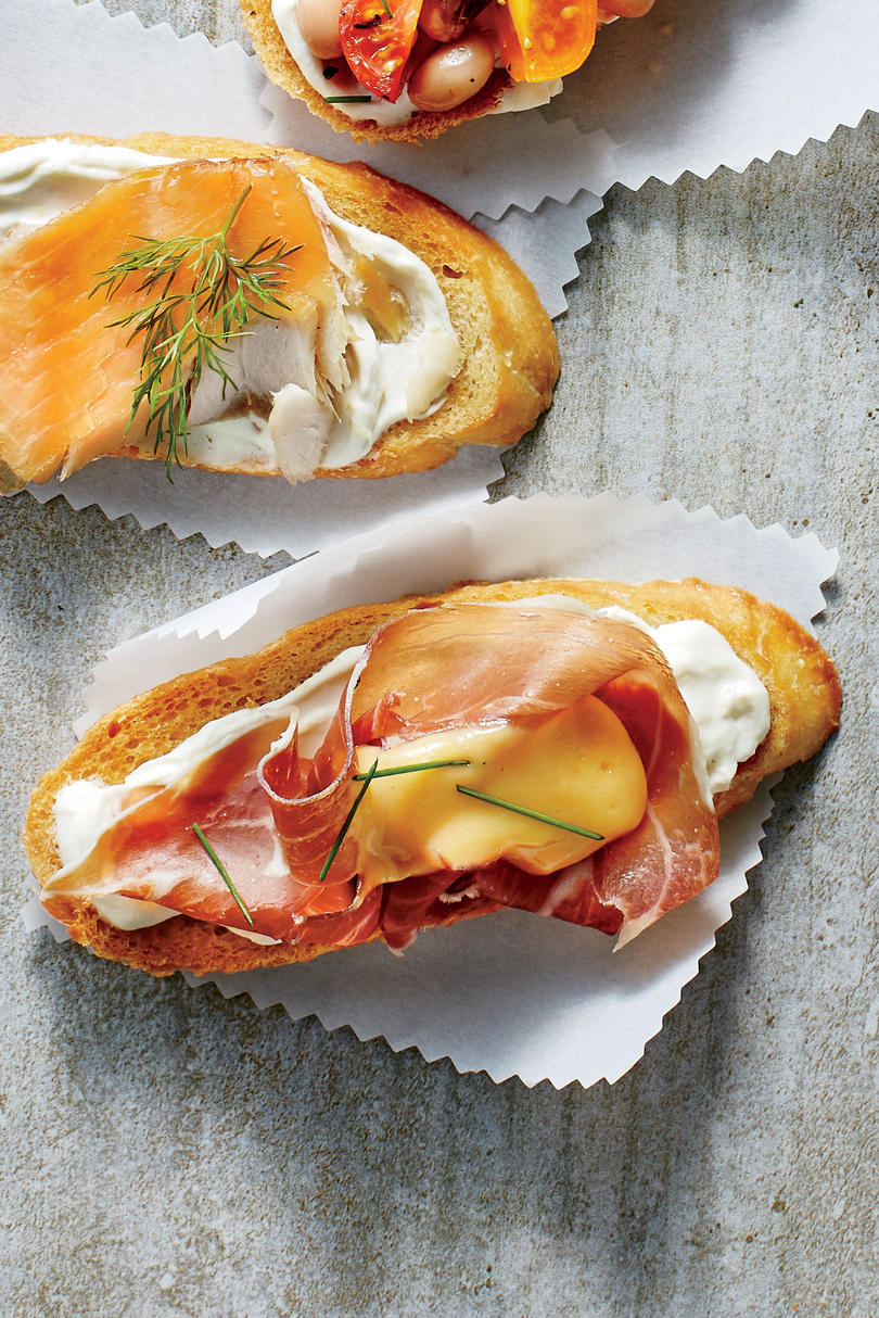 Ham and Cheese Crostini