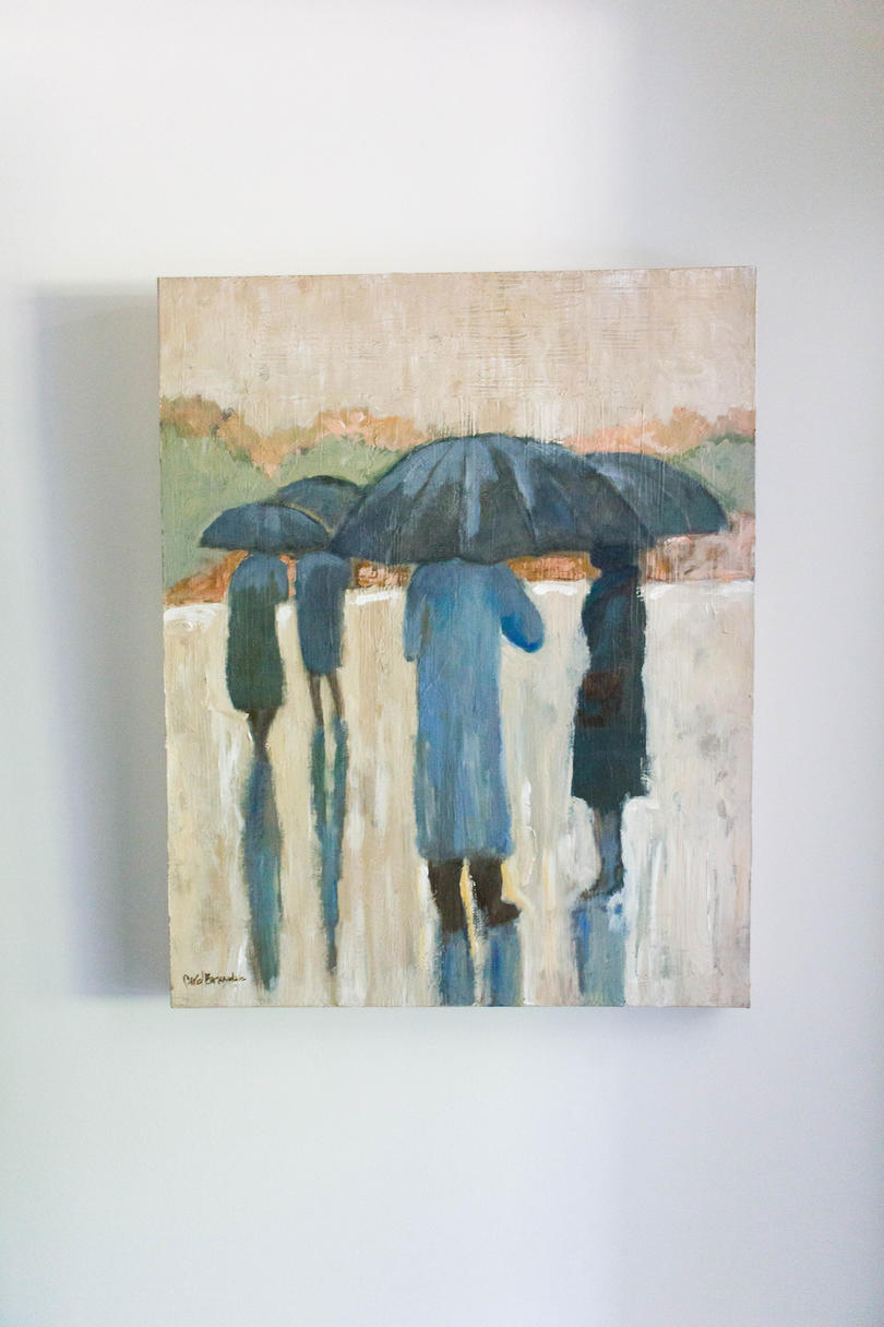 Blue Umbrella Painting