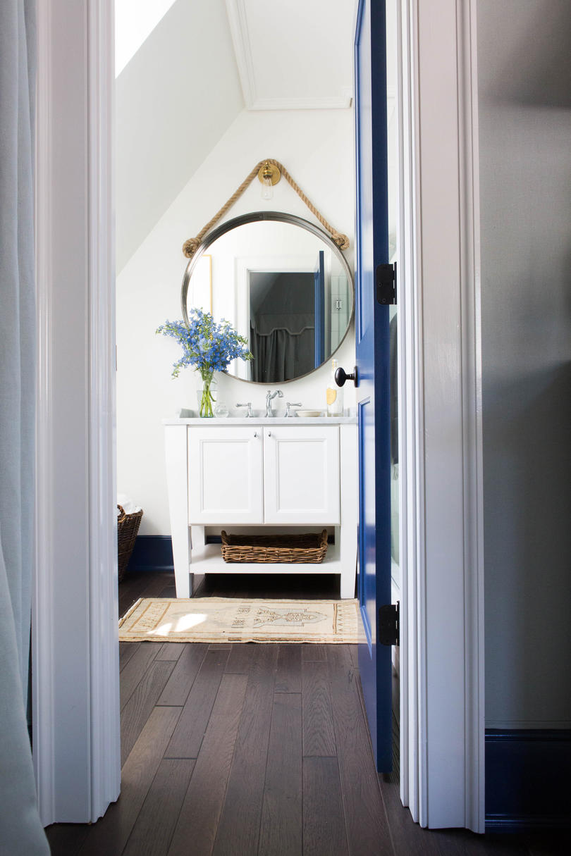 Blue and White Guest Bath