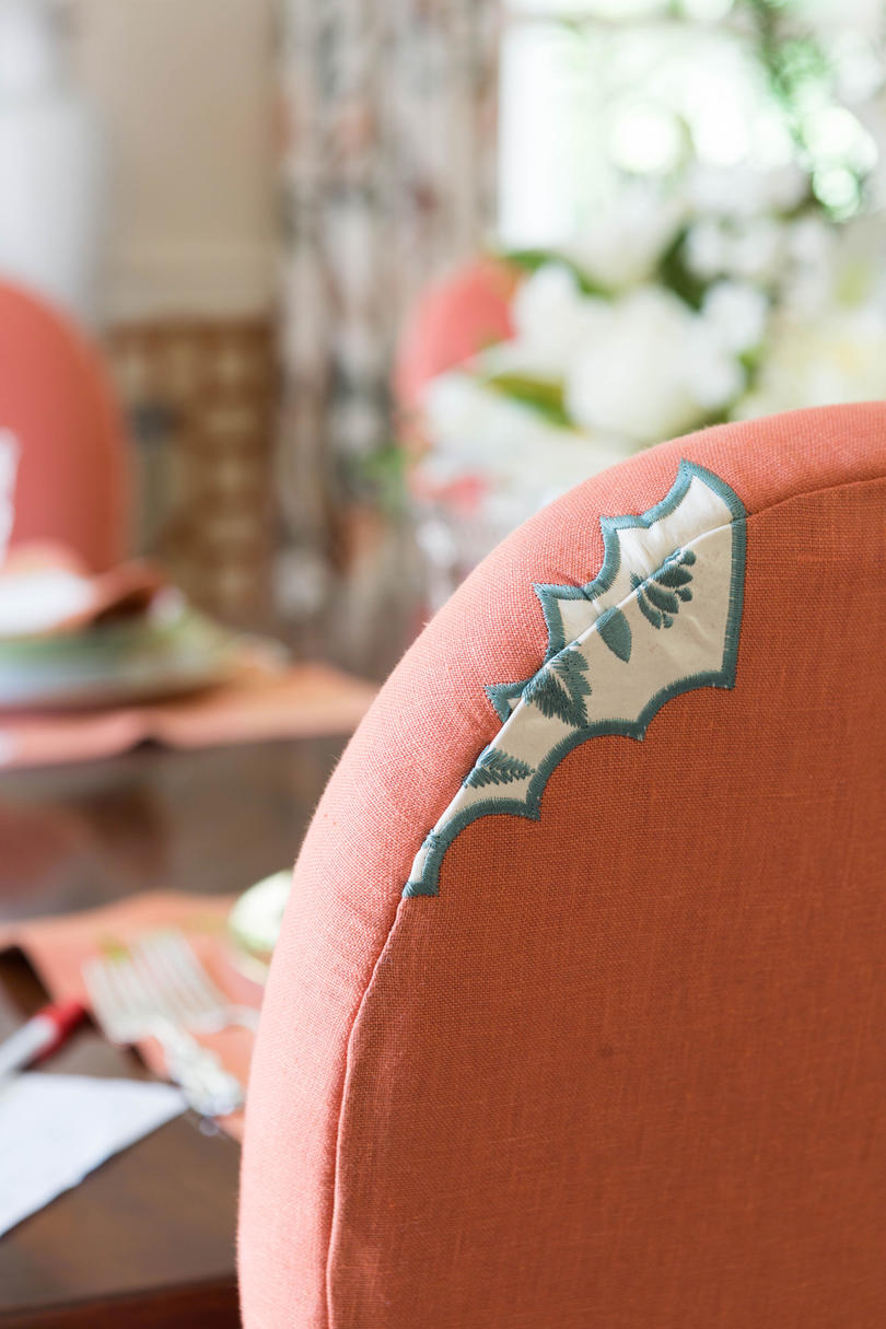 Coral Dining Chair Detail