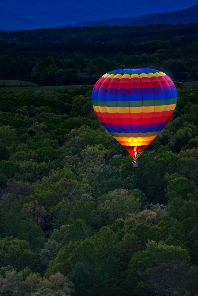 Balloon Over the Blue Ridge: Charlottesville, VA