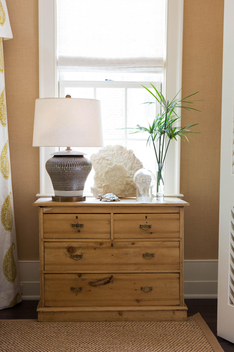 Natural Wood Nightstand