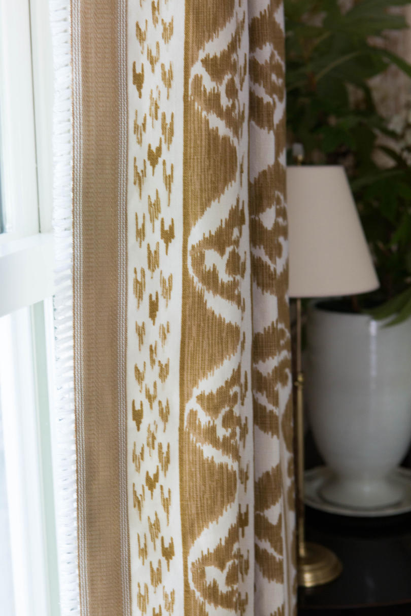Tan Fabric Curtains