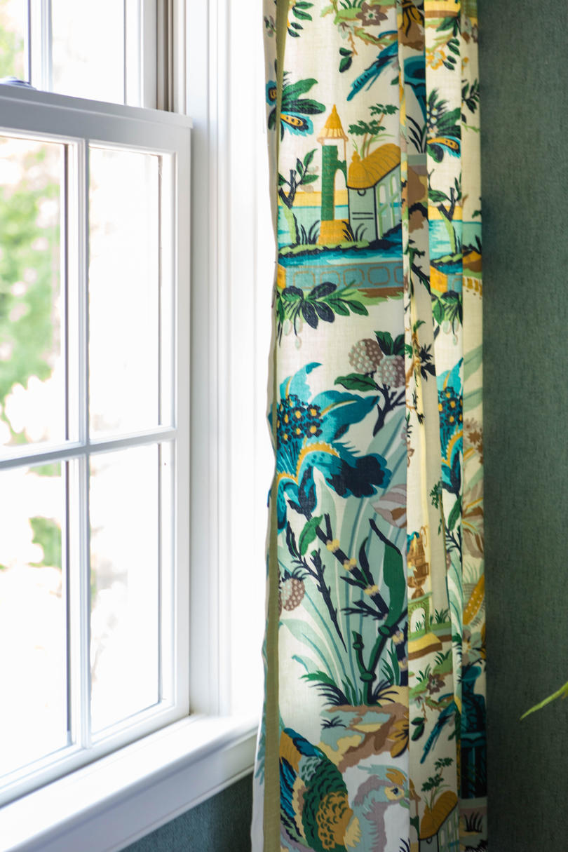 Yellow and Blue Curtains