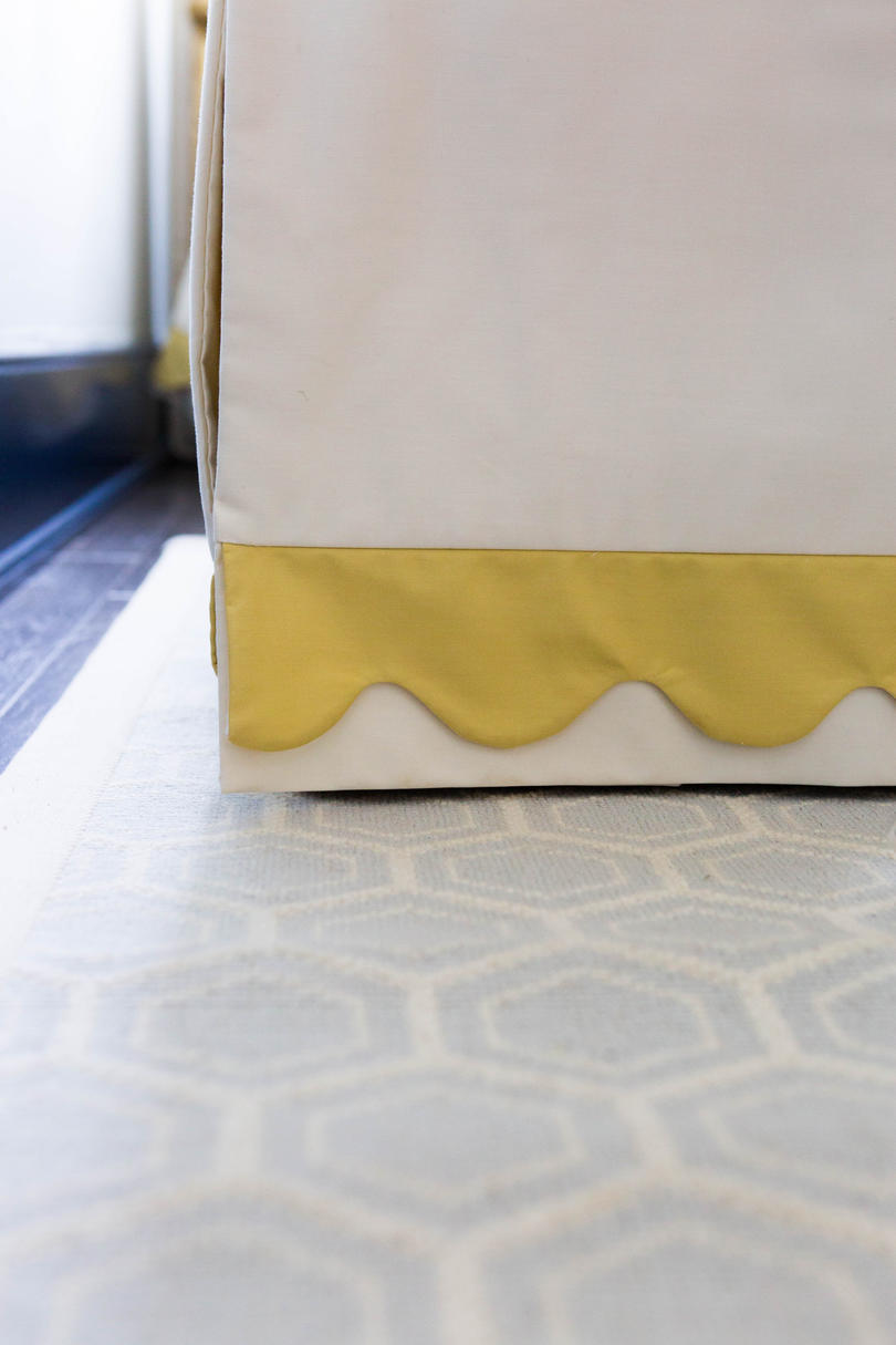Yellow and White Bed Skirt
