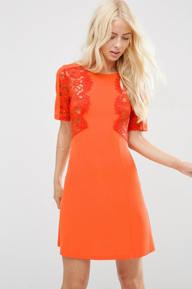 Lace Insert Shift Dress from ASOS