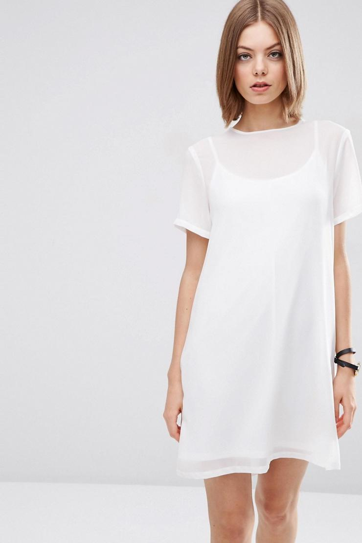 Sheer Shift Dress from ASOS