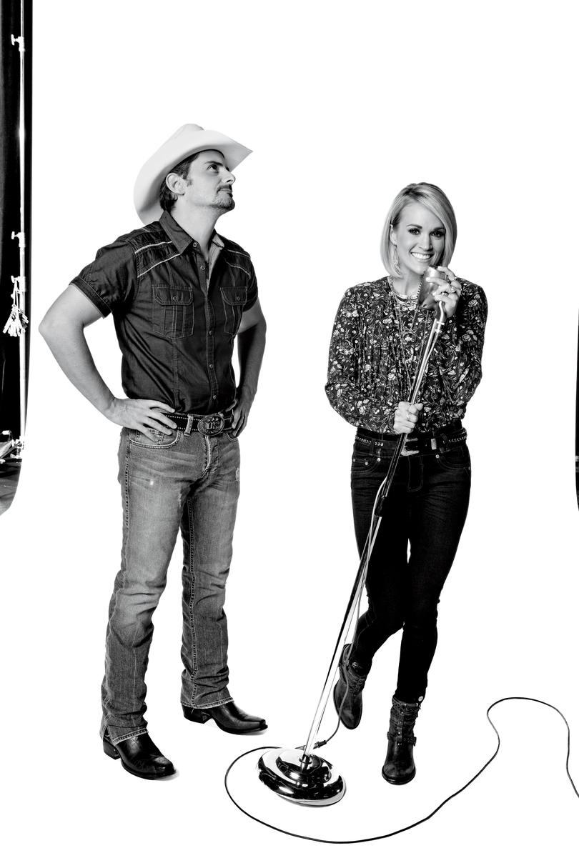 Brad Paisley and Smiling Carrie Underwood