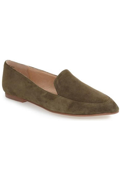 olive loafers