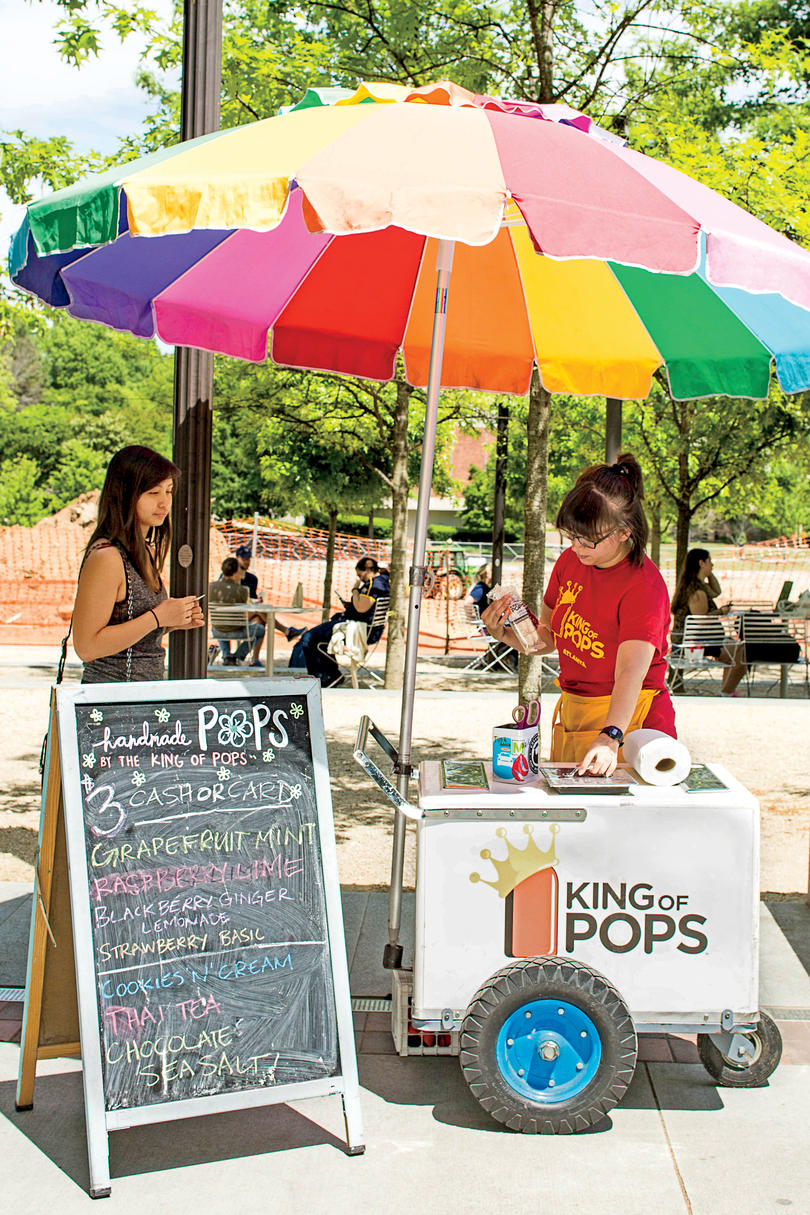 King of Pops stand on the Georgia Tech campus