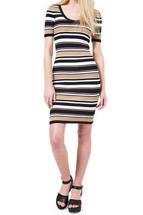 Striped Knitted Dress by Miss Selfridge