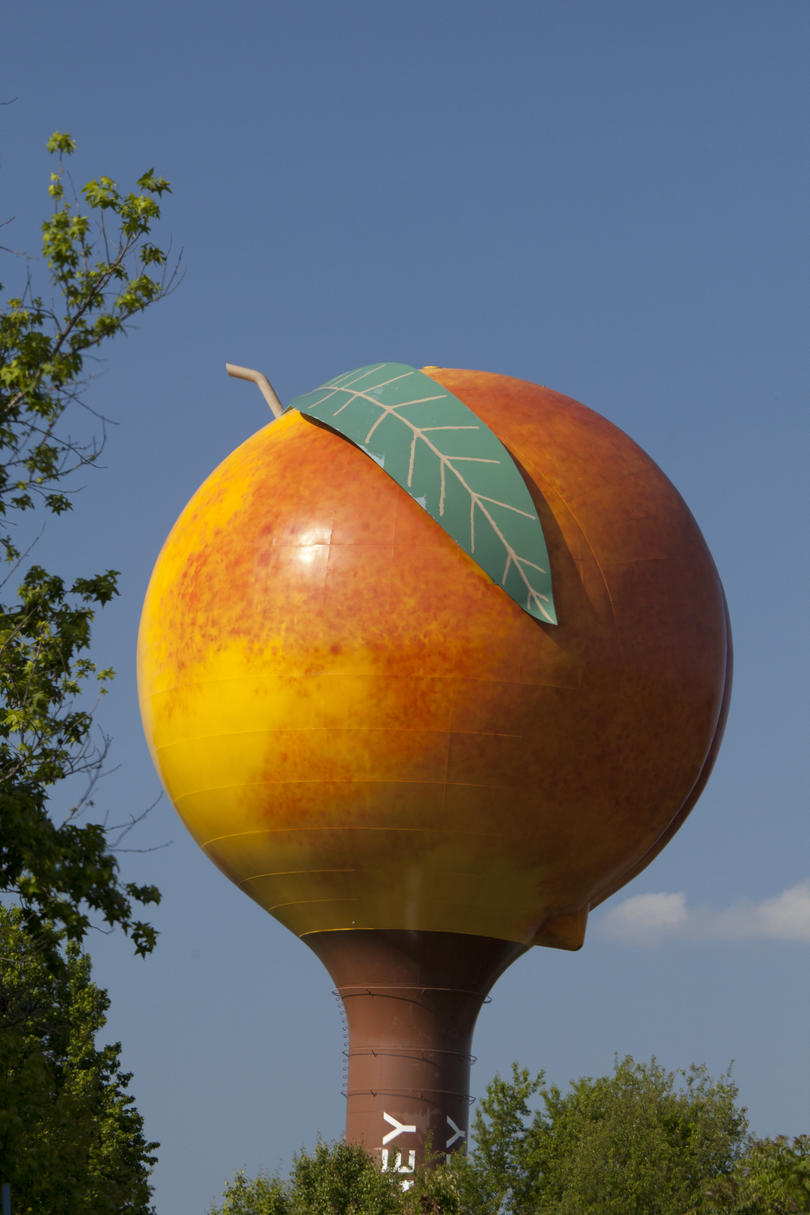 Peach Water Tower Painter