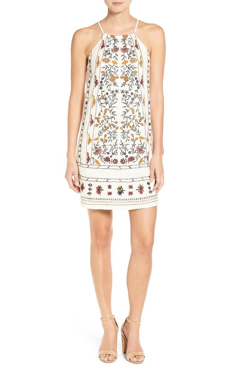 Embroidered Halter Dress by Willow & Grace